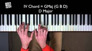 Common Pop Chord Progression - I - vi - IV - V in D Major
