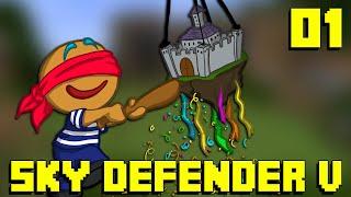 Minecraft - Sky Defender V : Jour 1 SEUL AU MONDE ?