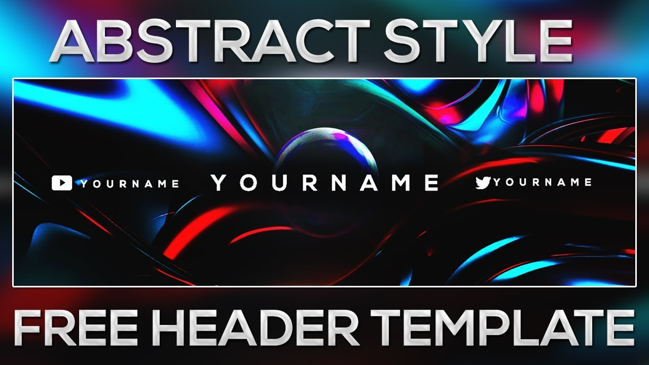 Abstract Style Twitter Header Template Free Psd Youtube