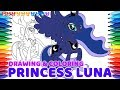 PRINCESS LUNA, My Little Pony Coloring Book #24 | Cute Drawing & Coloring * DogCatToys