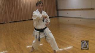 Shotokan Karate Heian Yondan Kata demonstration on PaulGaleNetwork.com