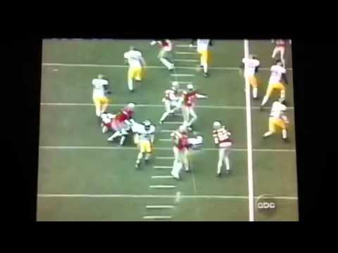 UM Long Snapper gets knocked out by O$U Safety Mike Doss