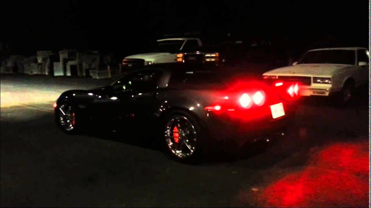 Glow In The Dark Reflective Brake Calipers On A Z06