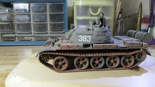 Building Tamiya Russian T-55a Tank. From Start To Finish. 1/35 Scale.
