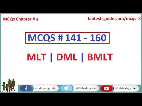 141 - 160 MCQ's and their Answers  For Laboratory Technicians and Technologists | Lab Tests Guide