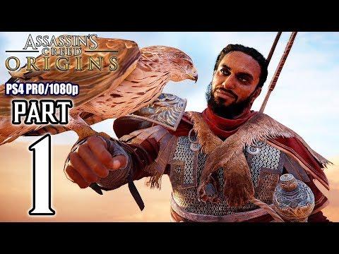 Assassins Creed ORIGINS Walkthrough PART 1 (PS4 Pro) No Commentary @ 1080p HD ✔