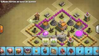 Clash of clans village hdv 7 gdc sans roi des barbares et 3 anti-aerienne