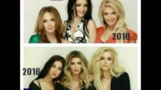 Российские звезды шоу-бизнеса в 2010 и 2016 годах