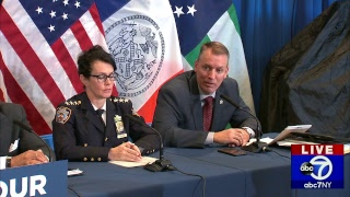 Crime in the City: Mayor Bill de Blasio, NYPD hold briefing on January crime