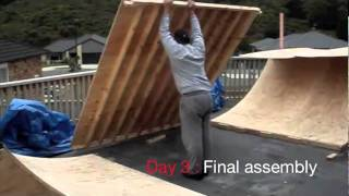 Mini Ramp Construction - (with Sound)