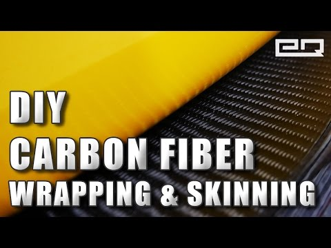 How to Hand Lay Real Carbon Fiber Wrapping / Skinning Tutorial