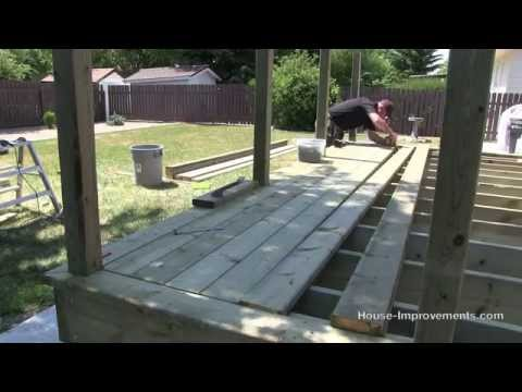 How To Build A Deck   #3 Decking [Posts/Border/Decking]