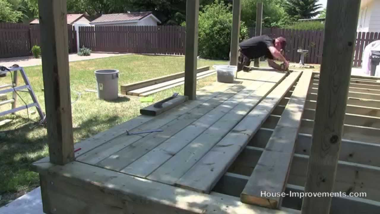 How To Build A Deck | #3 Decking [Posts/Border/Decking] - YouTube