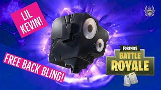 FORTNITE LIL KEVIN CHALLENGES! UNLOCK NEW FREE Lil Kev Back Bling! Fortnite Battle Royale!