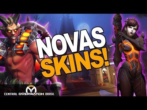 OVERWATCH | NOVA SKIN JUNKRAT DEMÔNIO E D.VA DESTROYER!! (HOTS) | Central Overwatch Brasil