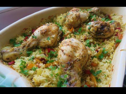 recette-167-:-délicieux-plat-de-riz-et-de-poulet-au-four-/-oven-baked-chicken-&-rice