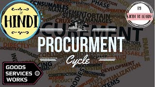 Procurement Methods || Procurement Cycle || Goods Works Services in Construction – Hindi