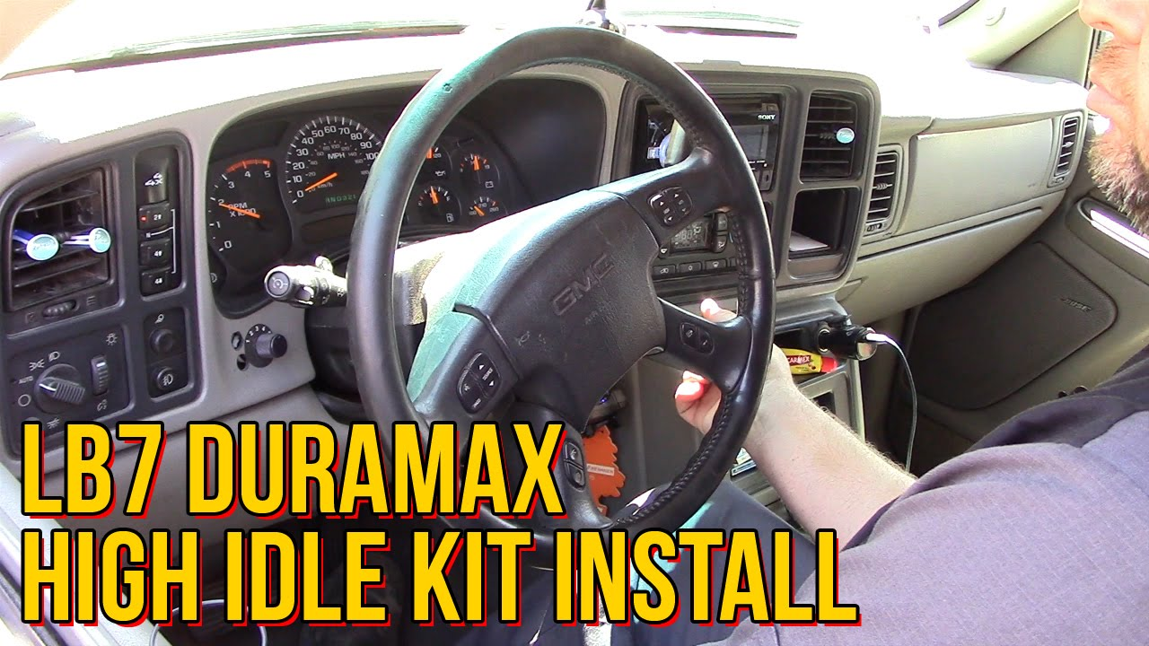 small resolution of lb7 duramax high idle kit install