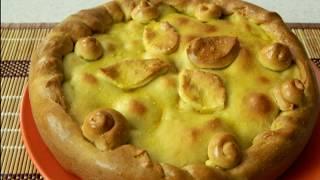 Пирог с картошкой и мясом  на кефире