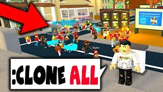CLONING PLAYERS WITH ADMIN COMMANDS!! (Roblox Trolling)