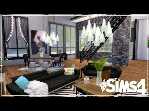 The Sims 4 | Speed Build/City Living | Industrial loft Apartment! 🏠 (On a Budget!)| CC Links!