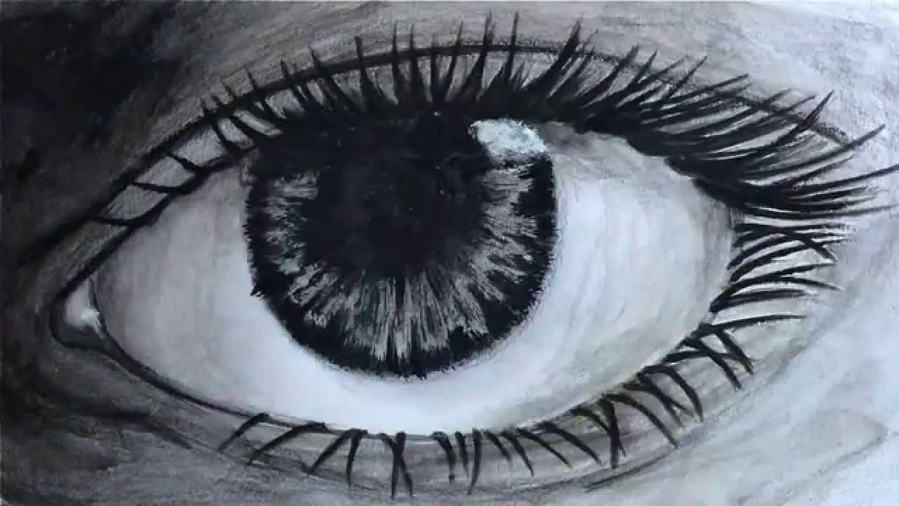 Popolare Tutorial - Come disegnare un occhio realistico parte 2 fine - YouTube XQ31