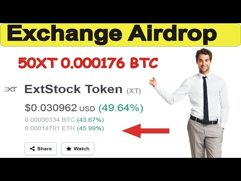 Extock Exchange 100% Real Airdrop Worth 0.000176 BTC  | 50 XT Join Fast Limited 3