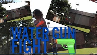 WATER GUN FIGHT WITH BJ | Teen Mom