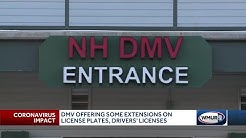 DMV offering some extensions on license plates, driver's licenses