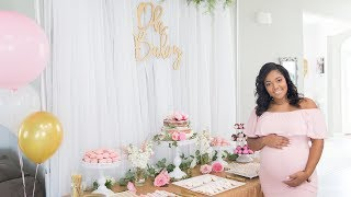 OUR BABY GIRLS BABY SHOWER + MILK BATH MATERNITY PHOTOSHOOT!!