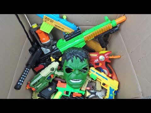 Box With Guns Toys - A Big Box of Toys - What Toy Guns Are in the Box?