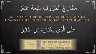 Mehmet Erarabacı  Mehâric-i Hurûf (مَخَارِجُ الحُرُوفِ سَبْعَةَ عَشَرْ)