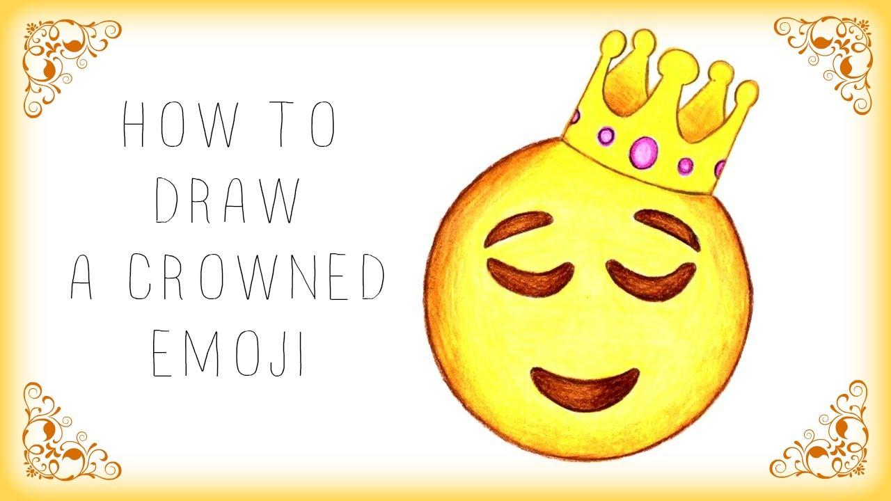 comment dessiner un emoji avec une couronne youtube