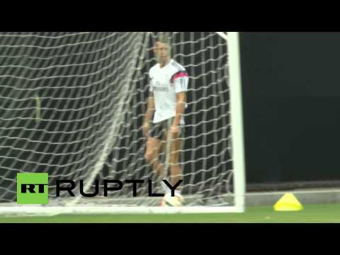 USA: Cristiano Ronaldo in first post-World Cup training session