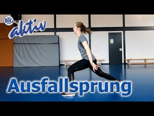 Jumping Lunge - Ausfallschritt mit Sprung