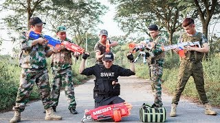 LTT Nerf War : SEAL X Warriors Nerf Guns Fight Attack Criminal Group Rescue BOSS