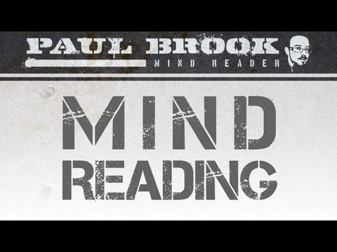 Paul Brook Mind Reader  Playing With Minds  HD