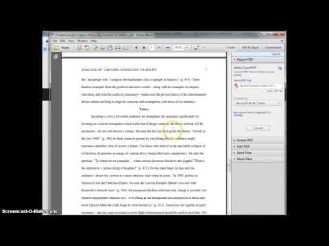 Assessment of Sample Analysis Essay