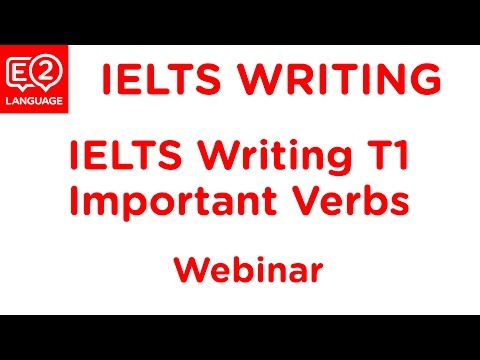 E2 IELTS General Writing Task 1: Important Verbs You Really Need to Know!