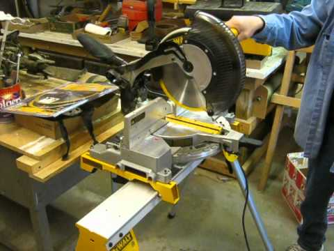 dewalt 12inch miter saw with stand and new blades at may 20 auction