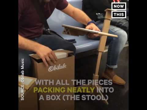 This Affordable and Portable Cardboard Drumset Looks Awesome
