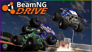 Monster Truck Carnage! | BeamNG Drive Monster Trucks