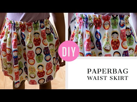 DIY Paperbag Waist Skirt Tutorial!