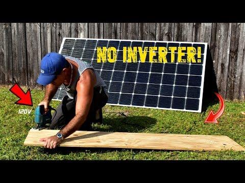 400W Solar Module Runs 120V Power Tools Directly!