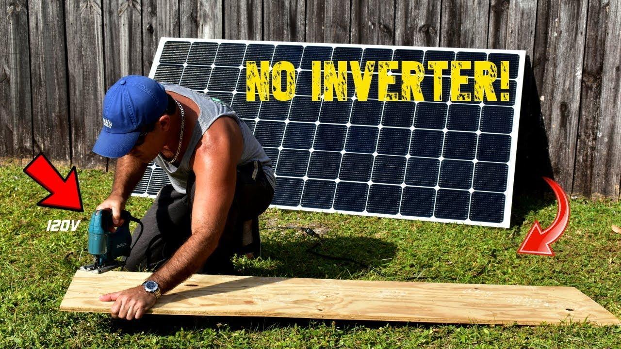 400w Solar Module Runs 120v Power Tools Directly Youtube