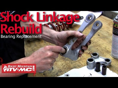 Motorcycle Shock Linkage Rebuild & Bearing Replacement - YouTube