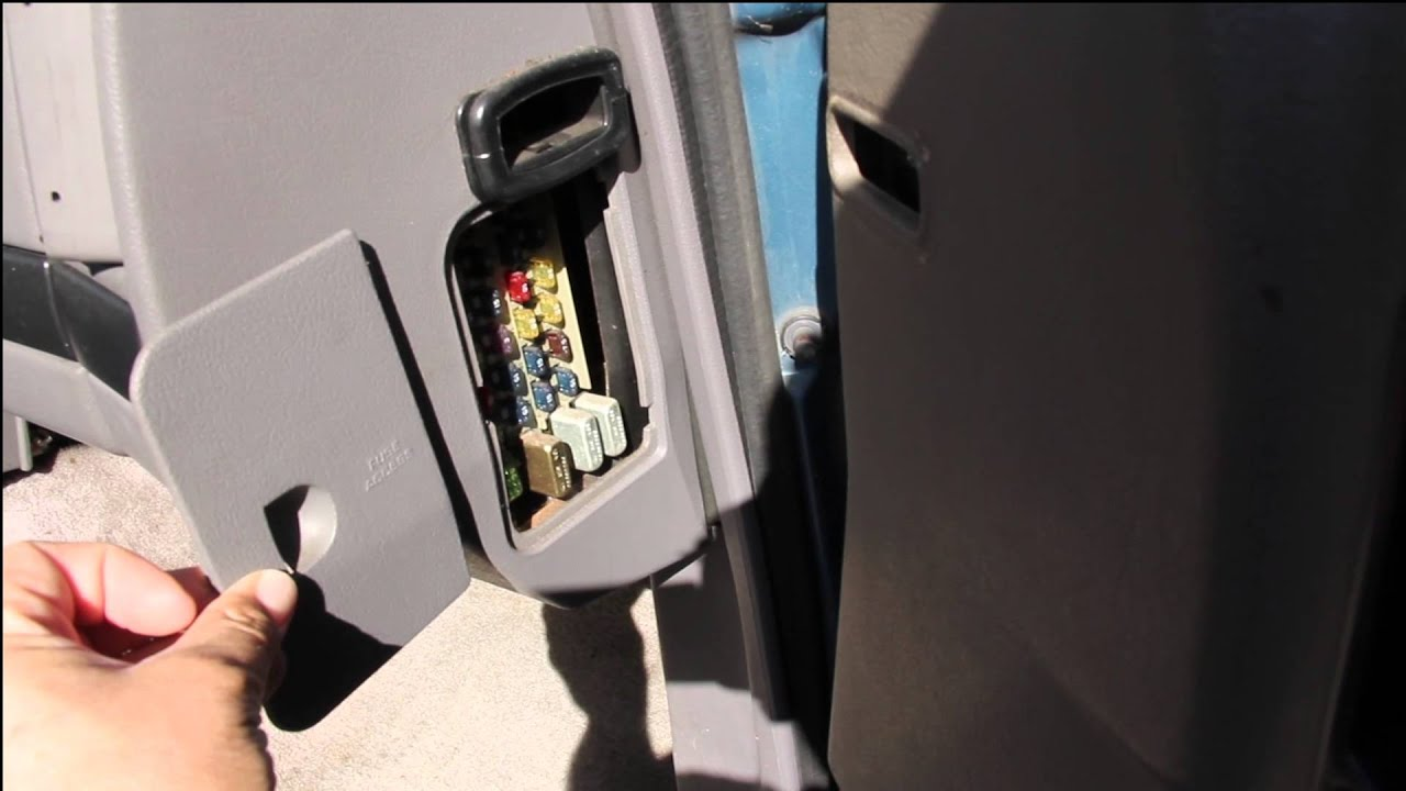 Fuse Box location in a 1994 Jeep Grand Cherokee Laredo