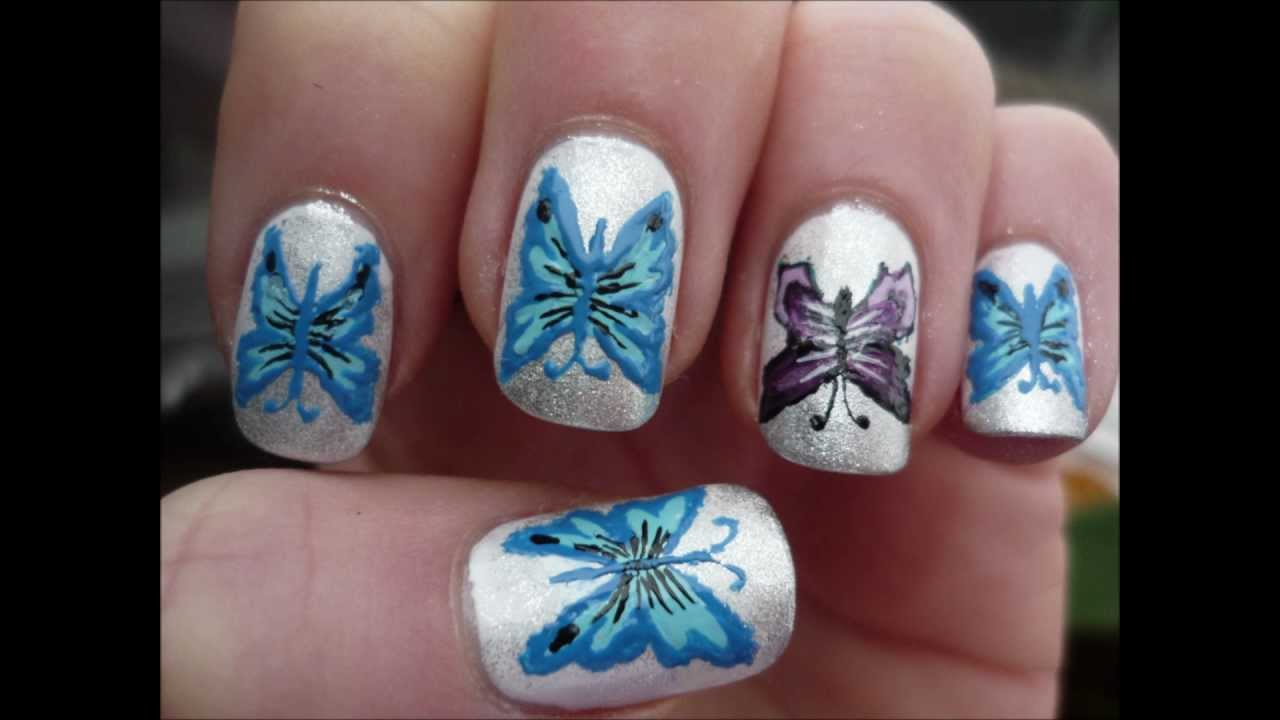 cute & unique butterfly nail art