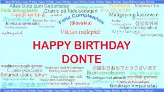 Donte   Languages Idiomas - Happy Birthday