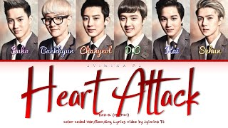 EXO-K (엑소케이) - 'Heart Attack' Lyrics (Color Coded_Han_Rom_Eng)